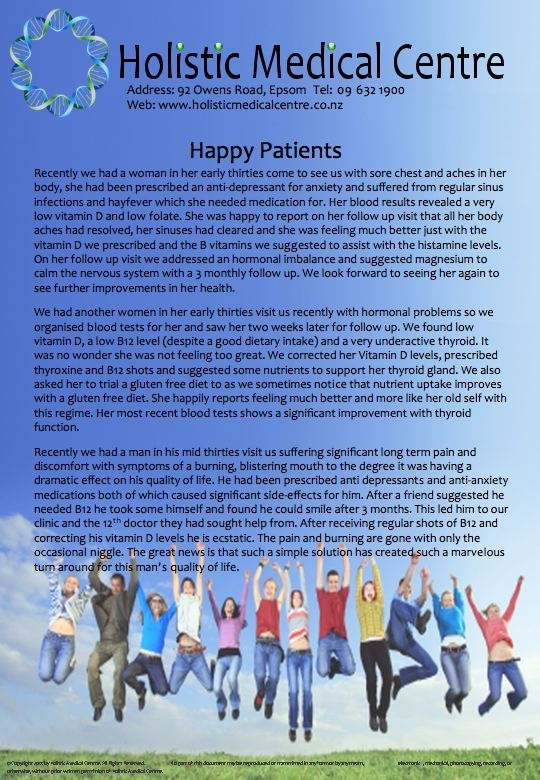 Holistic Medical Centre Newsletter