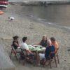 Collioure, France, dinner on the beach